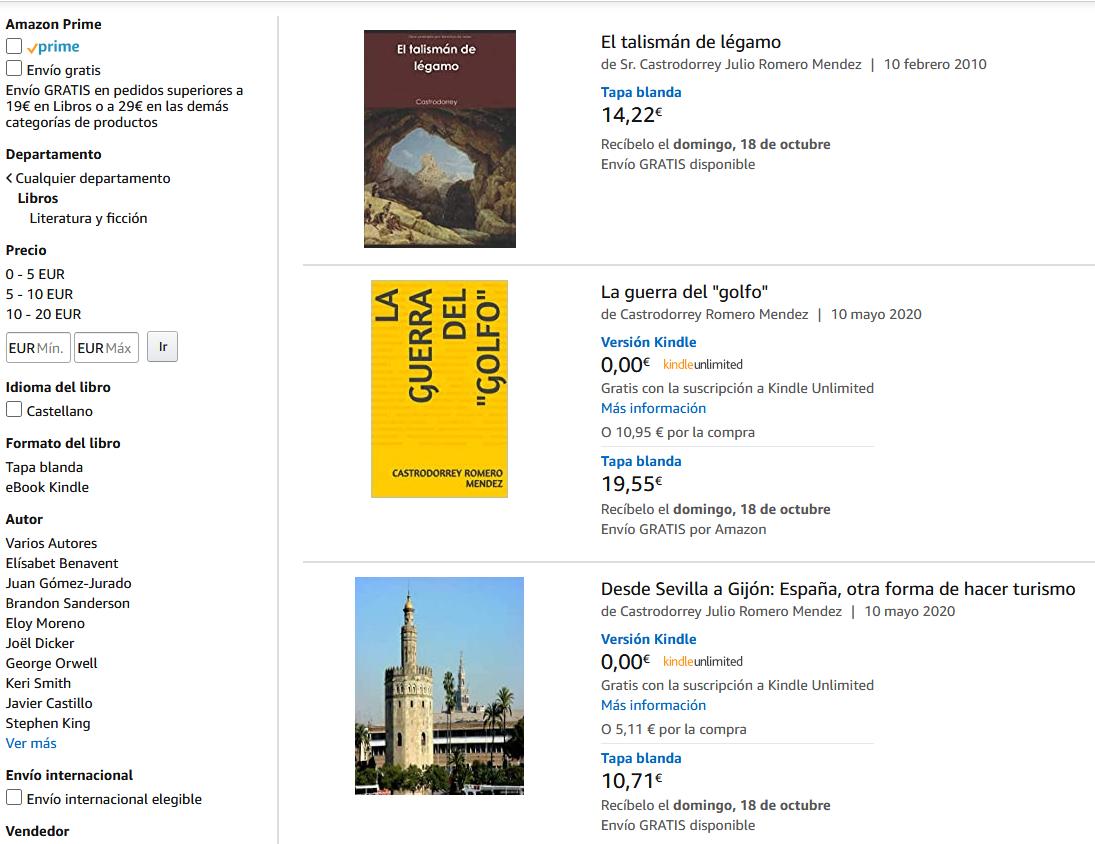 Los libros de Castrodorrey en amazon